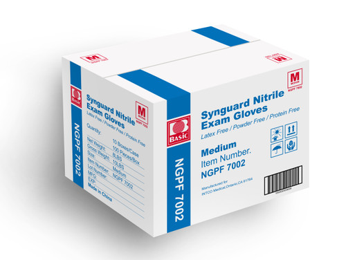 Nitrile Exam Gloves -  Sold by Case - Multiple Sizes Available