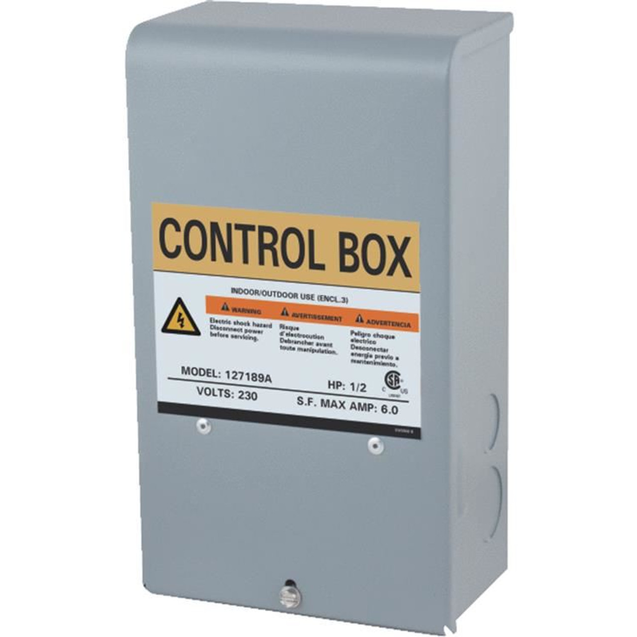 Star Water Systems 127189A 1/2 HP 3 WIRE Submersible Pump CONTROL BOX