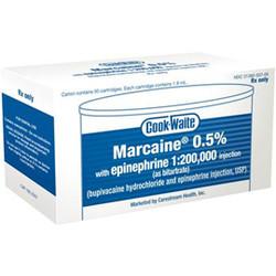 """Marcaine €"""" 1.8 ml Injection Cartridges, 50/Pkg"""