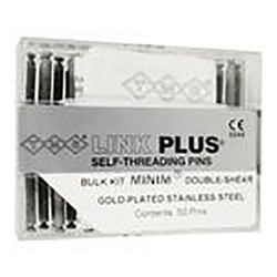 Self-Threading Pin System Link Plus Refill (50), Minim 2in1 Double Silver