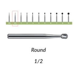 Carbide Burs. FG-1/2 Round. 10 pcs.