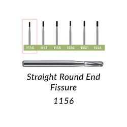 Carbide Burs. FG-1156 Straight Round End Fissure. 10 pcs.