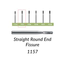 Carbide Burs. FG-1157 Straight Round End Fissure. 10 pcs.