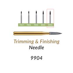 Carbide Burs. FG-9904 T&F 30-blades Needle. 10 pcs.