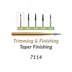 Carbide Burs. FG-7114 T&F 12-blades Taper Finishing. 10 pcs.