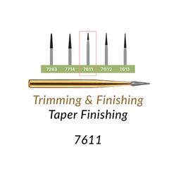 Carbide Burs. FG-7611 T&F 12-blades Taper Finishing. 10 pcs.
