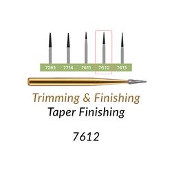 Carbide Burs. FG-7612 T&F 12-blades Taper Finishing. 10 pcs.