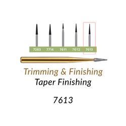 Carbide Burs. FG-7613 T&F 12-blades Taper Finishing. 10 pcs.