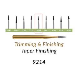 Carbide Burs. FG-9214 T&F 30-blades Taper Finishing. 10 pcs.