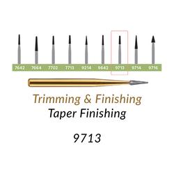 Carbide Burs. FG-9713 T&F 30-blades Taper Finishing. 10 pcs.