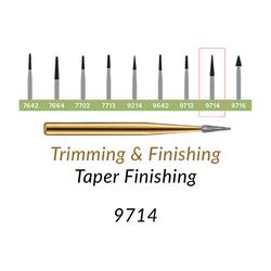 Carbide Burs. FG-9714 T&F 30-blades Taper Finishing. 10 pcs.