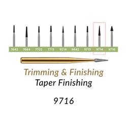 Carbide Burs. FG-9716 T&F 30-blades Taper Finishing. 10 pcs.