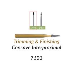 Carbide Burs. FG-7103 12 blades, Concave Interproximal  T&F, 10 pcs.