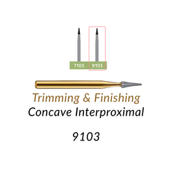 Carbide Burs. FG-9103 24 blades, Concave Interproximal  T&F, 10 pcs.
