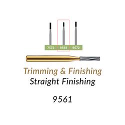 Carbide Burs. FG-9561 30 blades, Straight Finishing T&F, 10 pcs.