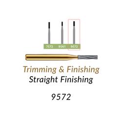 Carbide Burs. FG-9572 30 blades, Straight Finishing T&F, 10 pcs.