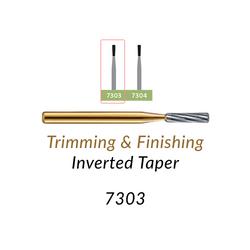 Carbide Burs. FG-7303 12 blades, Inverted Taper T&F, 10 pcs.