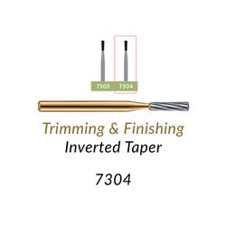 Carbide Burs. FG-7304 12 blades, Inverted Taper T&F, 10 pcs.