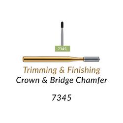 Carbide Burs. FG-7345 12 blades, Crown & Bridge Chamfer T&F, 10 pcs.