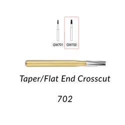 Great White Burs. GW702  Taper/Flat End Crosscut 10 pcs.