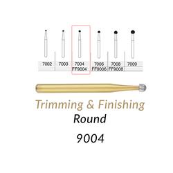 Carbide Burs. FG-9004 30 Blades FF Round Trimming & Finishing. 5 pcs.