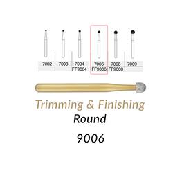 Carbide Burs. FG-9006 30 Blades FF Round Trimming & Finishing. 5 pcs.