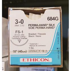 Sutures Ethicon 3/0 Silk FS-1 684G