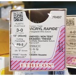 Suture Vicryl Undy Rap PS-2 3-0 12/Box (VR497)