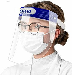Face Shield Protective Cover Transparent 1/Pk