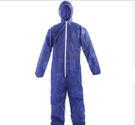 Polypropylene Disposable Coverall with Hood Size SMALL
