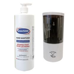 Hand Sanitizer Liquid Gel 70% Alcohol 1L + 1 Auto Dispenser