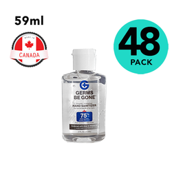 Case of 48 Germs Be Gone Hand Sanitizer 2oz Travel Size