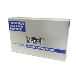 "Mynol articulating Paper- Thin Red/Blue Horseshoe .0025"" (63 Microns). 60/Box"