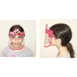 Kids Full-Face Face Shield With Fun Cartoon Decoration. ***Fog-Free**