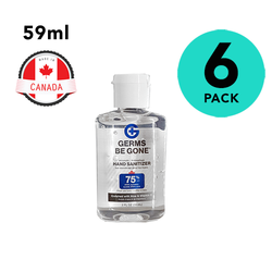 6 Pack Germs Be Gone Hand Sanitizer 2oz Travel Size