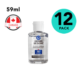 12 Pack of Germs Be Gone Hand Sanitizer 2oz Travel Size