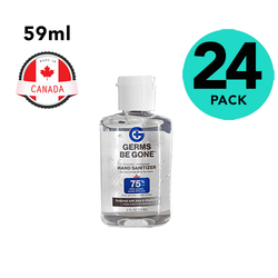 24 Pack Germs Be Gone Hand Sanitizer 2oz Travel Size