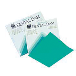 "Hygenic Latex Dental Dam - Children's, Ready Cut, 5"" x 5"""
