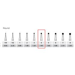 Alpen Carbides FG OS Round Bur #4 10/Pk