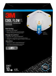 Genuine 3M N95 8511 Respirator with Cool Flow Valve 10/Pk