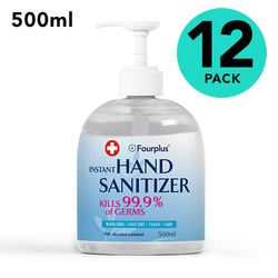 12 Pack of Premium Quality 70% Alcohol Hand Sanitizer 500ml Bottle