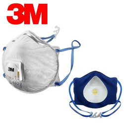 Geniune 3M 8922 N95 Masks with face seal Fabric 10/Pk