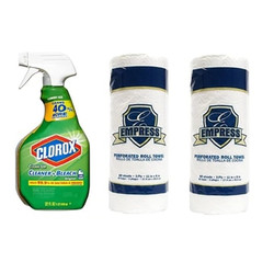 Clorox Disinfectant Spray With Bleach 32 FL OZ +  2 Rolls of 85 Towels