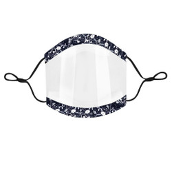 Fashion Clear Mask/Face Shield with Adjustable Straps.