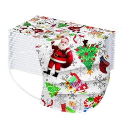 Merry Christmas 3-Ply Face Masks 50/Pk