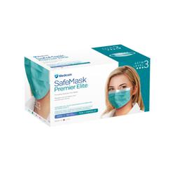 Medicom Safe Masks Premier Elite ASTM Level 3 Teal 50/Box