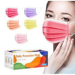 Daily Protective Ear Loop Multi Colour Masks 50/Box