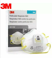 Genuine 3M N95 #8210V  With Valve 10/Pk