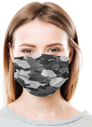 Daily Protective Camo Black Ear Loop Masks 50/Box