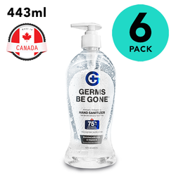 Germs Be Gone 75% Alcohol Hand Sanitizer 15oz Bottle - 6 Pack